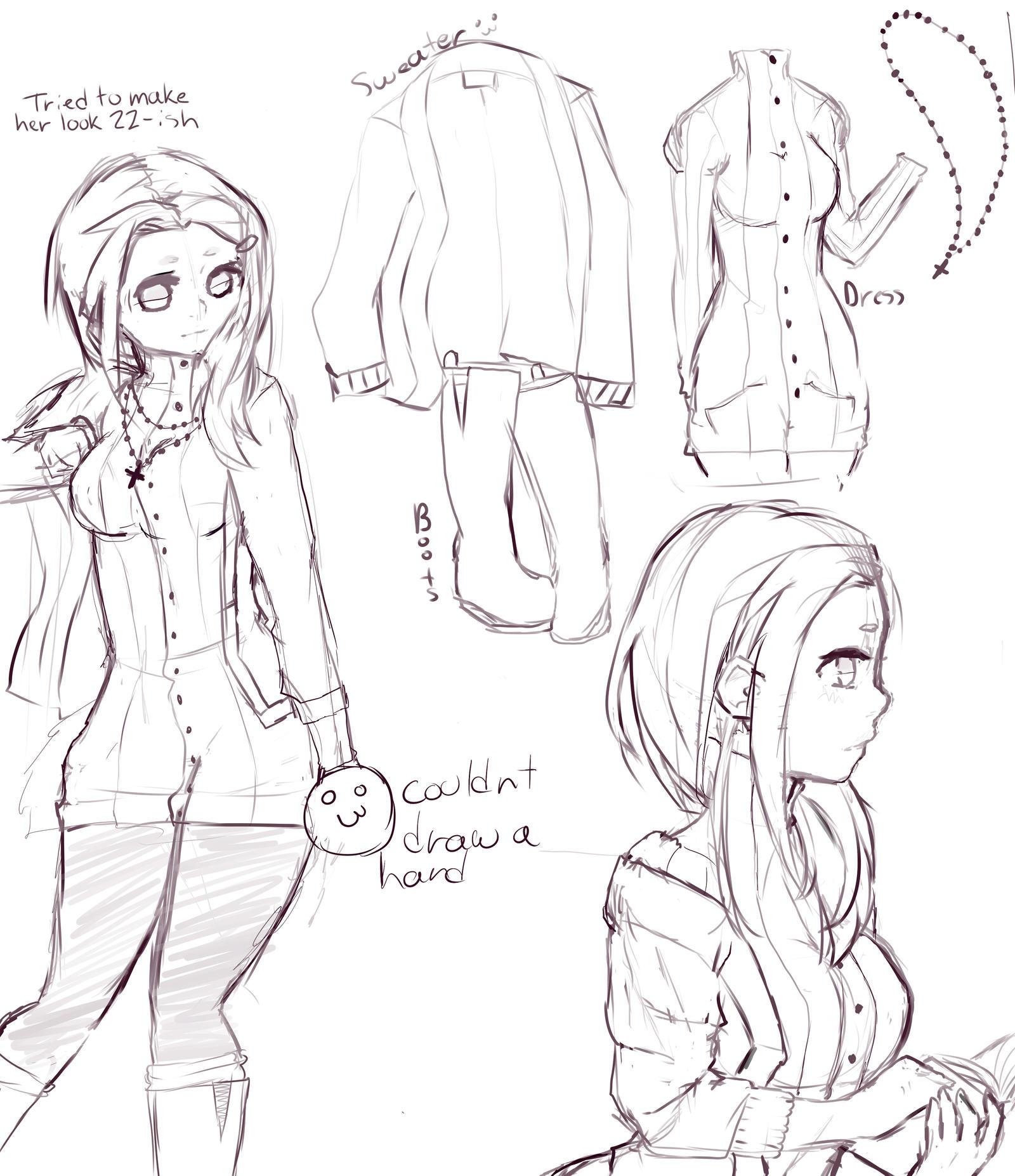 Character Design Kawaii : Cute nun character design by olliverpie on deviantart