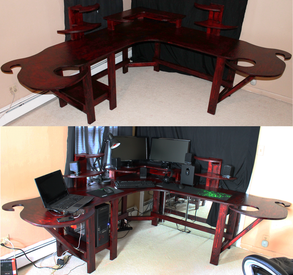 Funky Gaming Computer Desk By Mariowned On Deviantart