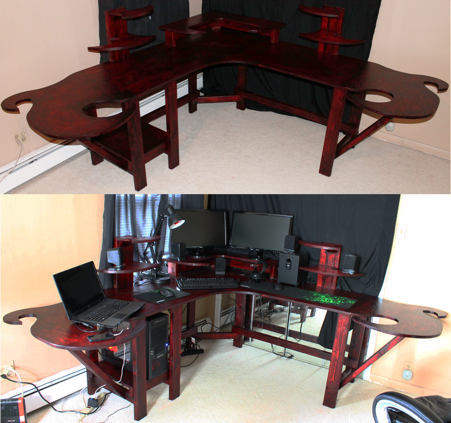 Funky Gaming puter Desk by Mariowned on DeviantArt