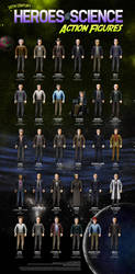 Heroes of Science Action Figures by datazoid