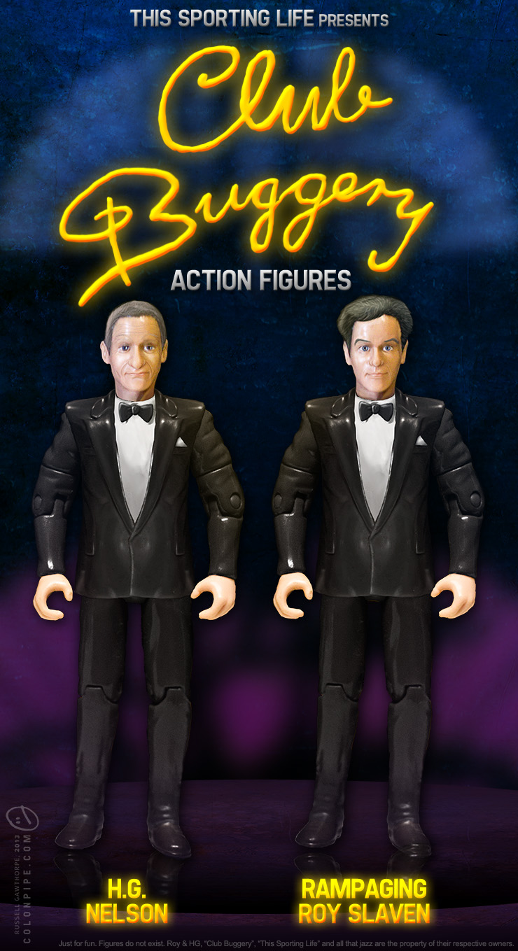 Roy and HG Club Buggery Action Figures by datazoid