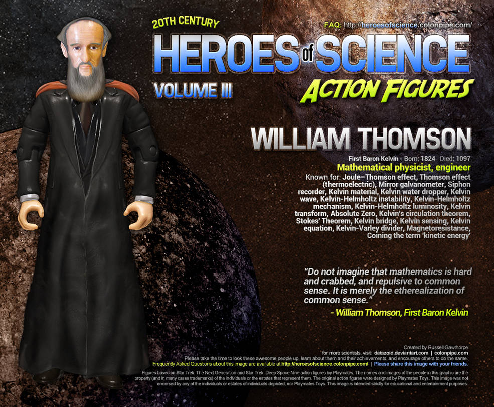 Heroes of Science: Lord Kelvin by datazoid