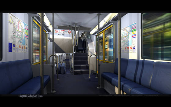 Cityrail Suburban Train by datazoid