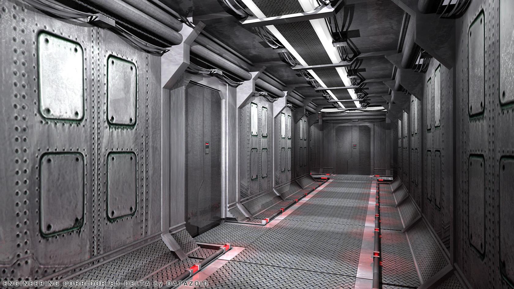 Engineering Corridor B-1 Delta by datazoid