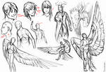 Daily Doodles 2 - ppl and birds