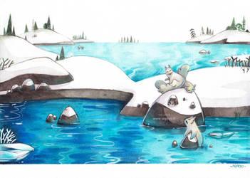 Le Lac des Renards by Seppyo