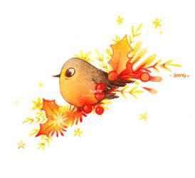 Oiseau de Noel Version Lumiere