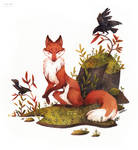 Fox and the crows