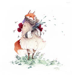 Winter Fox and nature