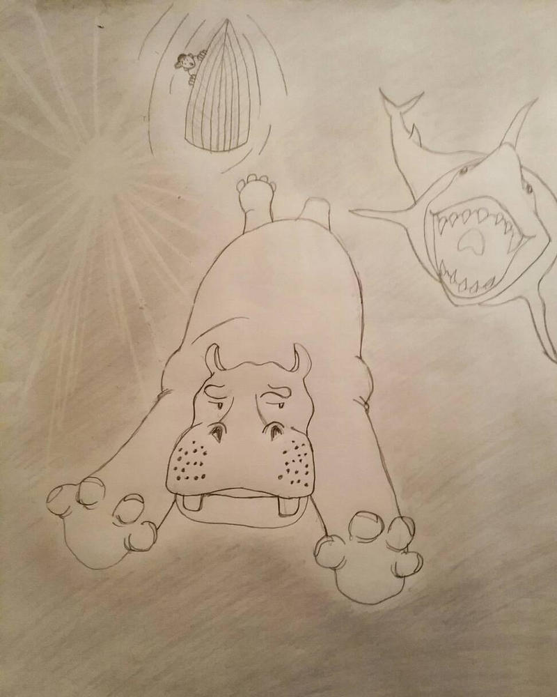 Daily Sketch Workout: Hippo Underwater by FeroxDictum