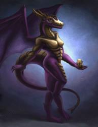 Female Dragoness by JoseDraws