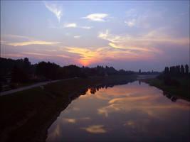sunset by siscanin