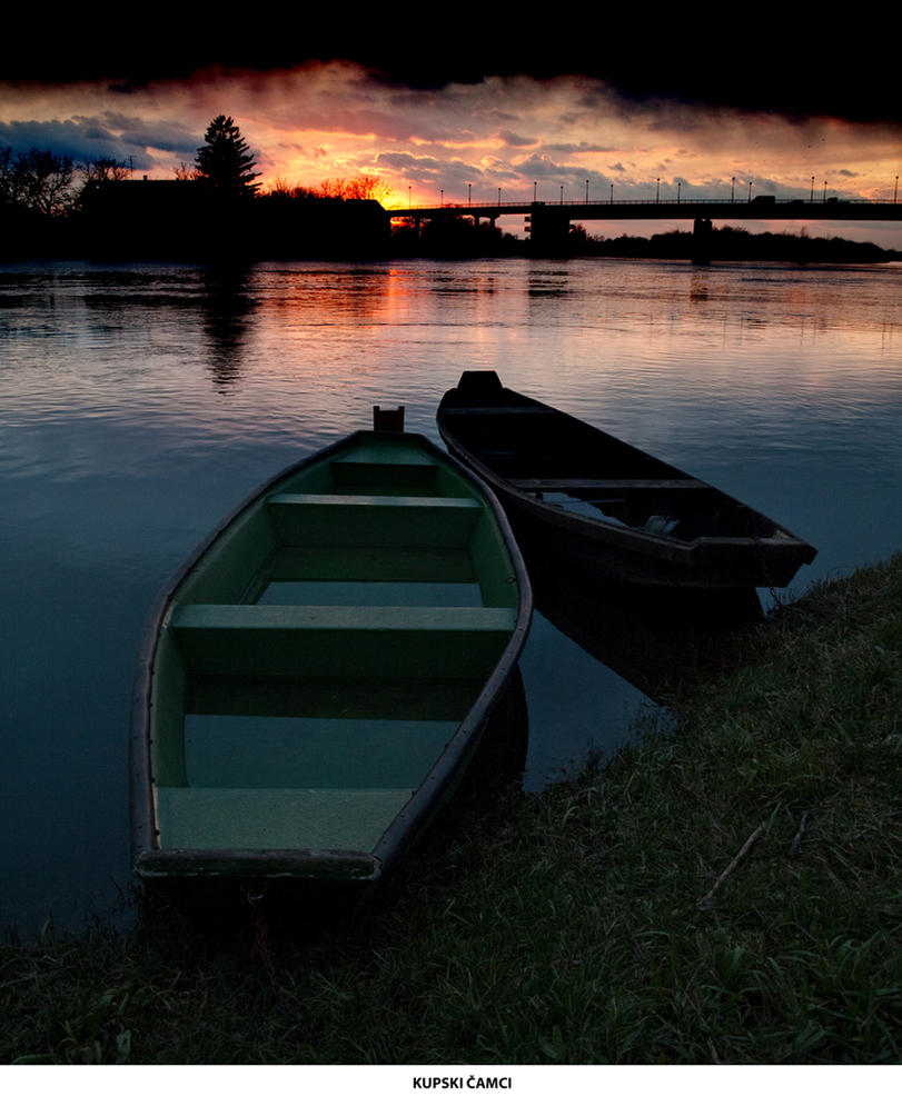 Boats  the river Kupa by siscanin