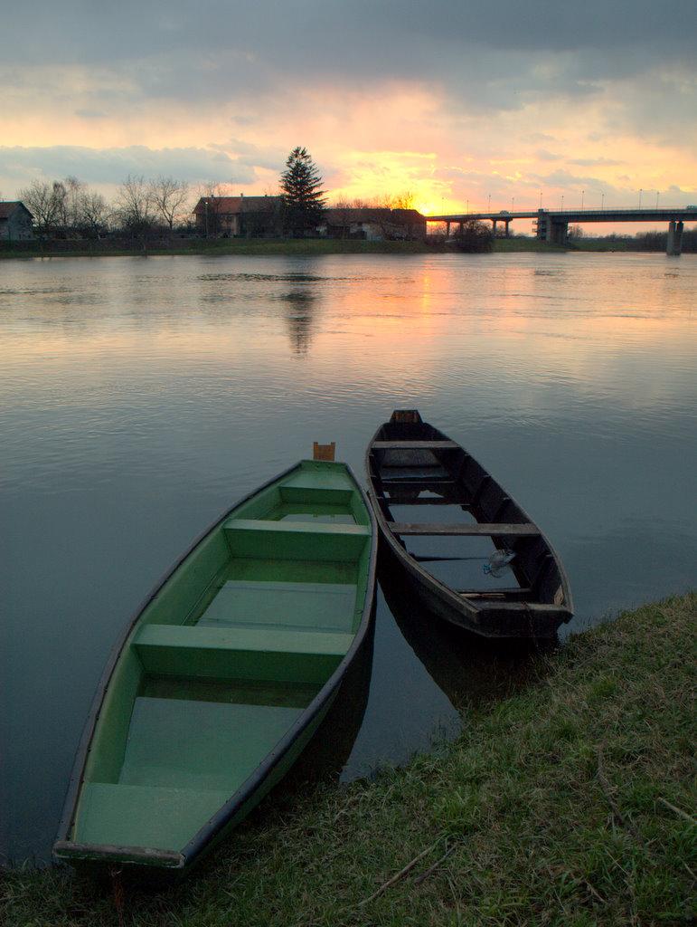 Boats  the river Kupa1 by siscanin