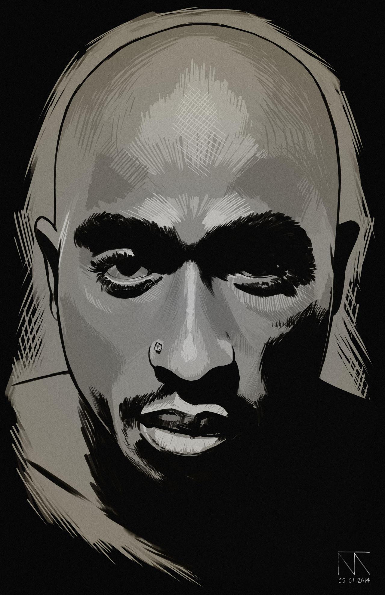 Tupac by MyPseudonym7 on deviantART
