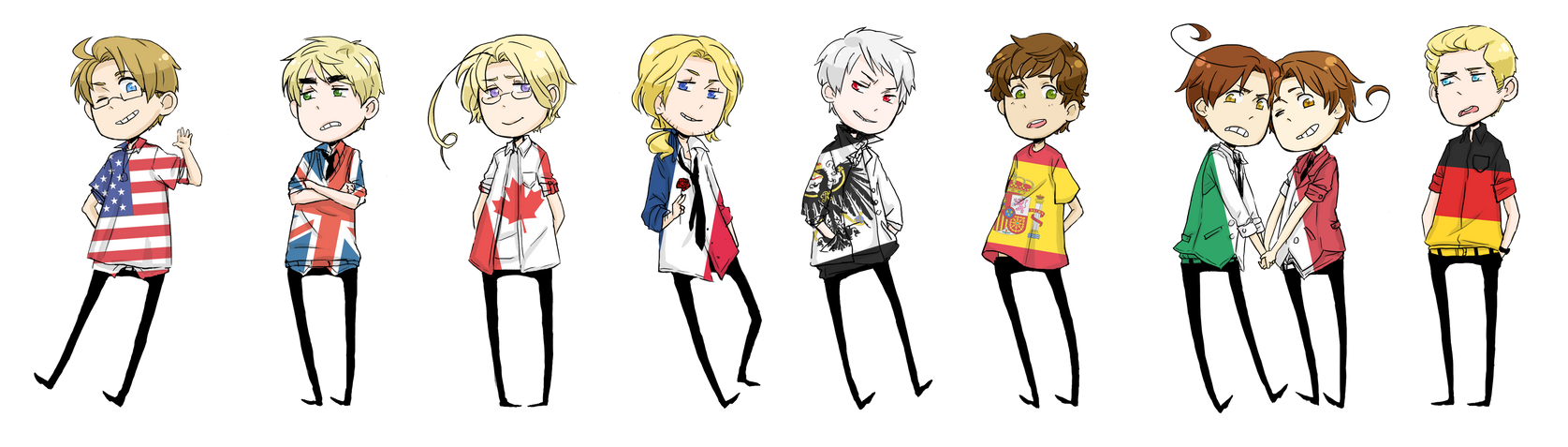 Hetalia wall chibi things by shinyunicorntears