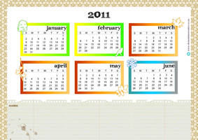 Free printable calendar 2011 by ClementineCreative