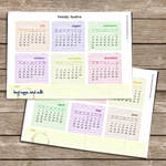 Free printable 2012 calendar by ClementineCreative