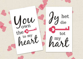 Printable Valentine's Day Card - Key by ClementineCreative