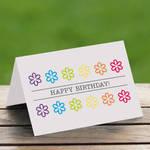Printable Birthday Card - Rainbow Flowers