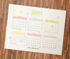 Free Printable 2013 Calendar by ClementineCreative