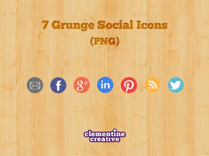 Free Grunge Social Media Icons