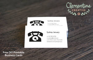 Free DIY Printable Business Cards by ClementineCreative