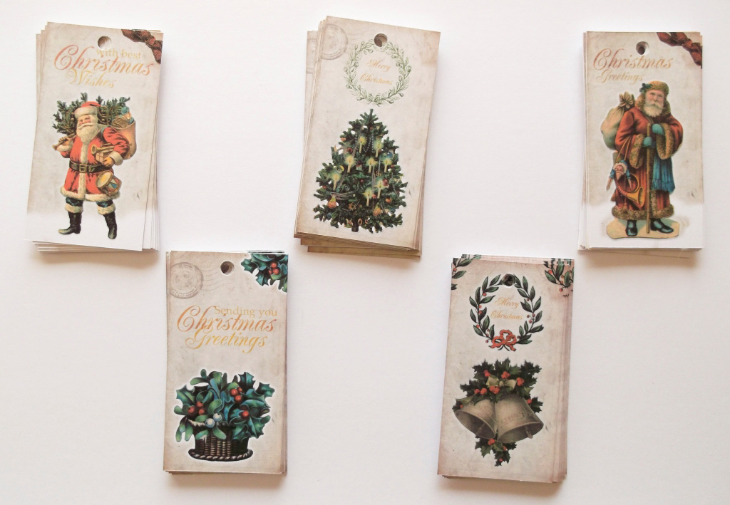 Vintage Christmas Gift Tags by ClementineCreative