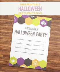 Free Printable Halloween Party Invitation by ClementineCreative