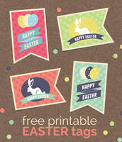 Free printable retro Easter tags by ClementineCreative