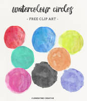 Free Watercolor Circle Textures by ClementineCreative