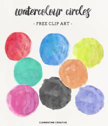 Free Watercolor Circle Textures