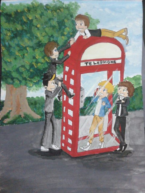 Mini One Direction Painting by 1sthunterofartemis