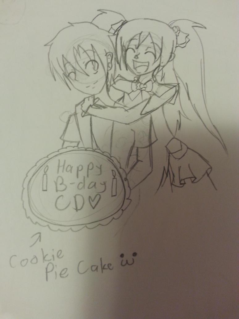 ChocolateDollies' s Cookie Cake by TinyKuroNeko