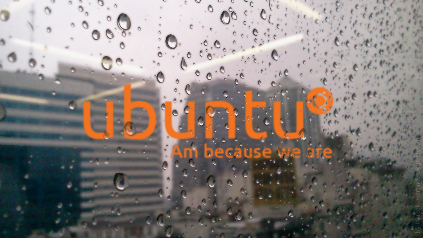 ubuntu rain in baires by marcelomartinovic