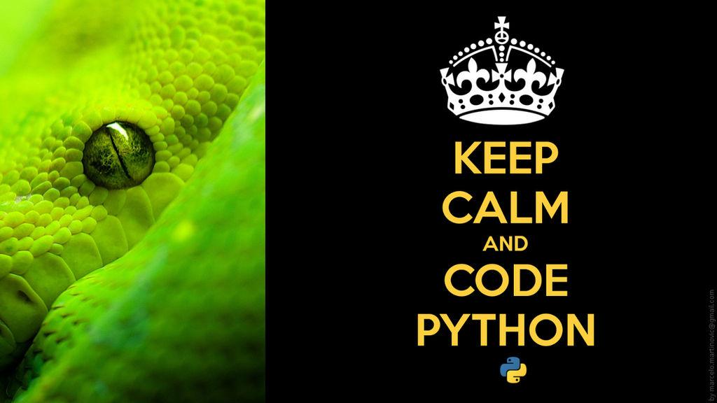 Keep Calm and code python by marcelomartinovic