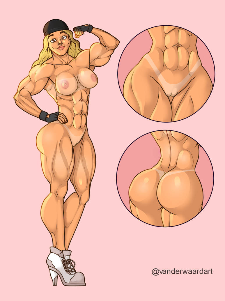 Flexing Naked Jessy by Odie1049