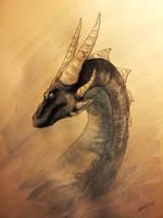 Blue Dragon by Dracarian