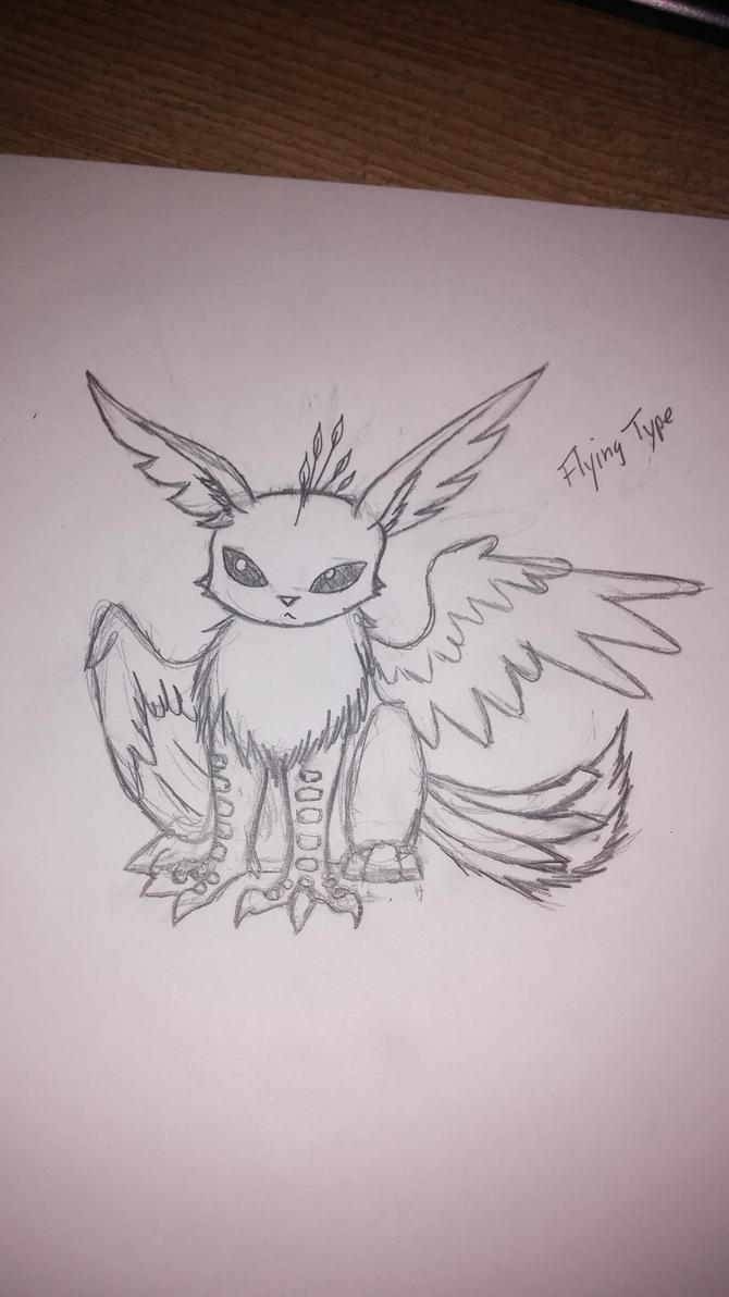 Flying Type Eevee by CalleStar