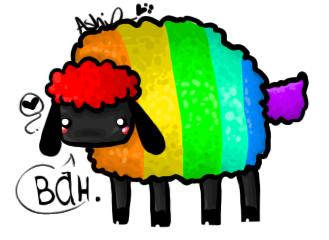 x Rainbow Sheep x by CrazyPurplePuppy
