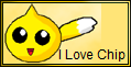 I Love Chip Stamp by JigglyPuffGirl