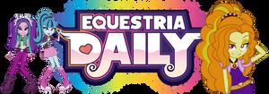 Equestria Daily Banner: Rainbow Rocks by ImperfectXIII