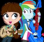 Blythe Baxter and Rainbow Dash