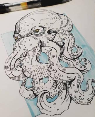 Octopus redraw by xXDrawingAddictXx