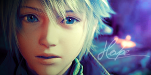 Hope from FF XIII signs by seemii
