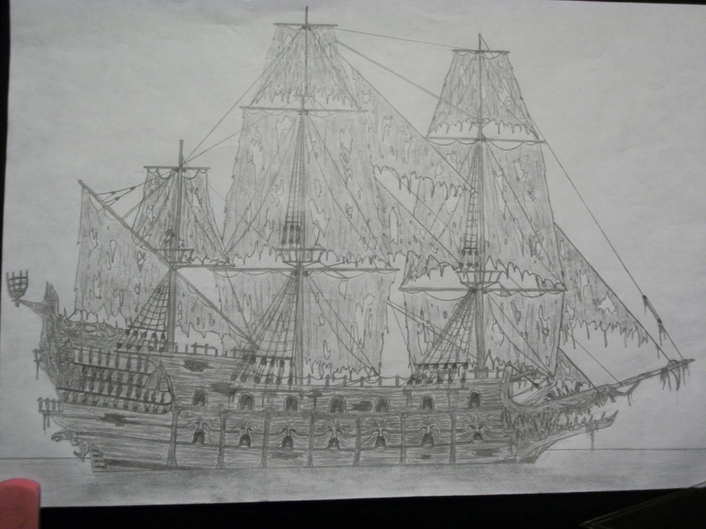 how to draw the flying dutchman