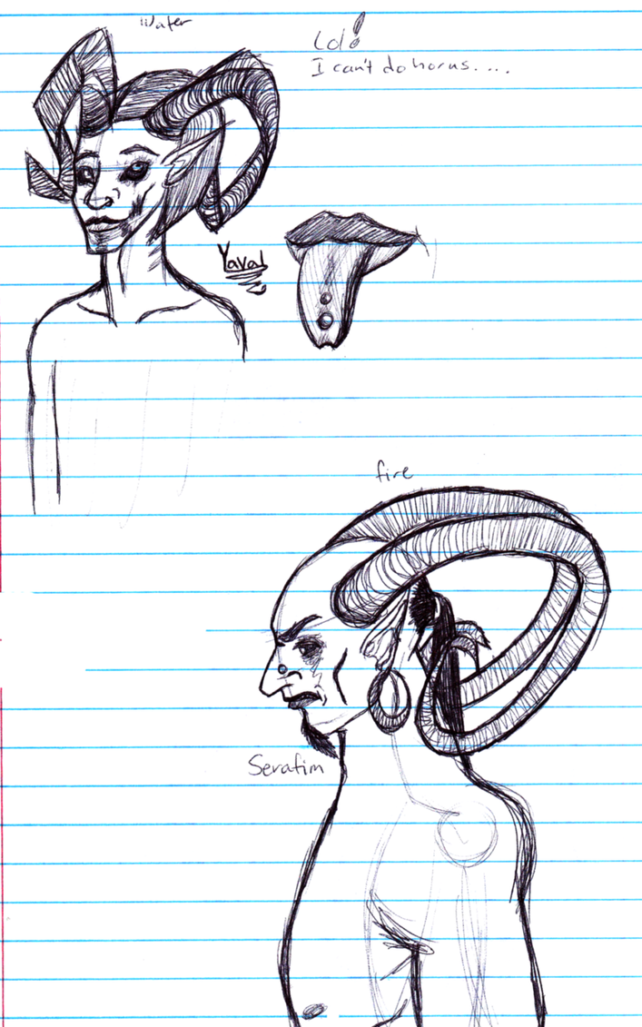 Yaval and Serafim by calicophoenix
