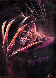 Freddy Krueger - Christopher Lovell Art by Lovell-Art