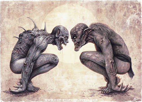 'The Staring Contest' Christopher Lovell Art