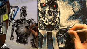 Terminator (PAINTING PROCESS) Video *WATCH HERE!*